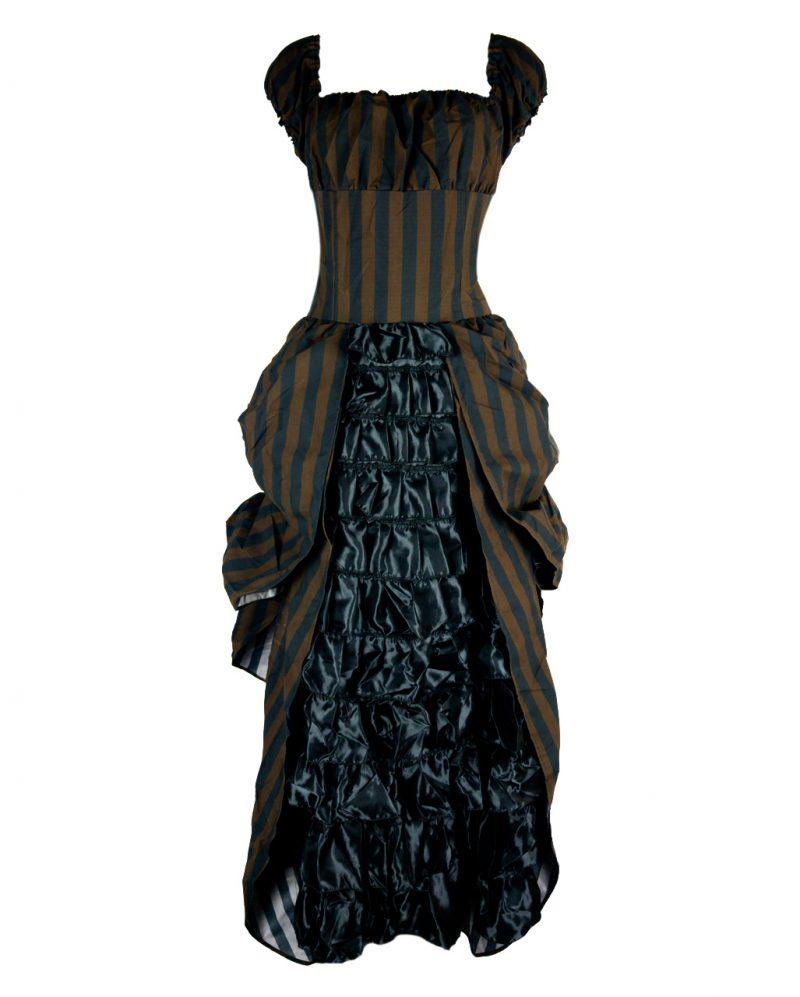 Steampunk Kleidung viktorianisches Kleid Streifenmuster
