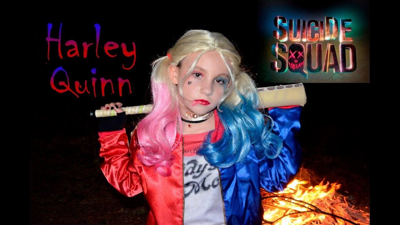 Kostüm Harley Quinn mit Perücke für Mädchen