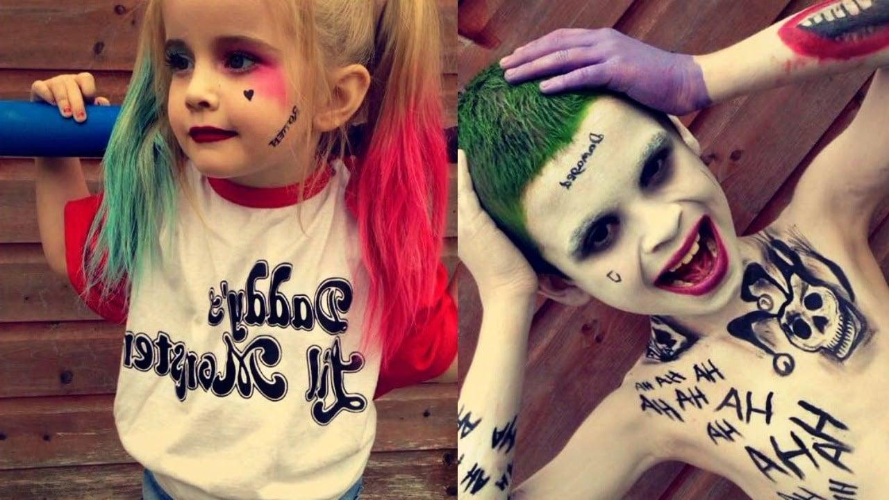 Kostüm Harley Quinn und Joker für Mädchen und kleine Jungen