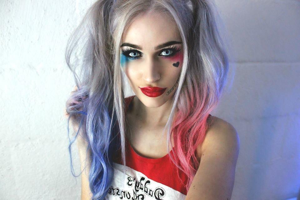 Kostüm Harley Quinn selber machen und schminken