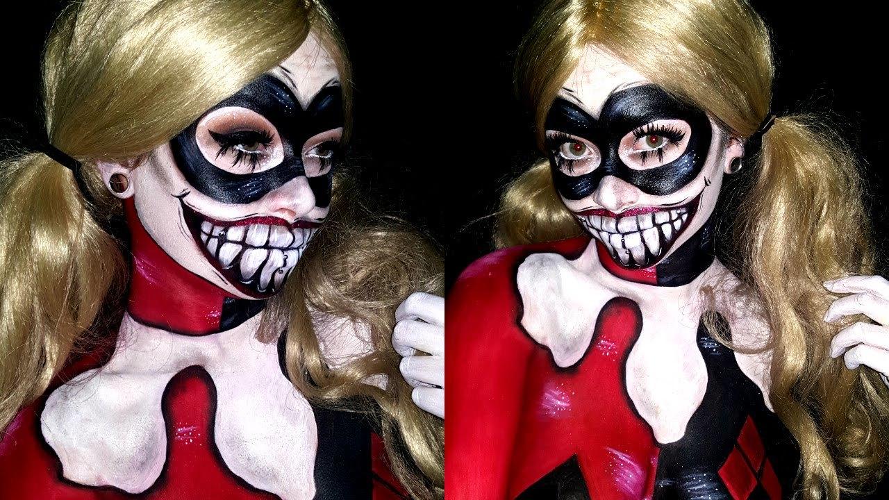 Kostüm Harley Quinn und Schminken Ideen für Profis