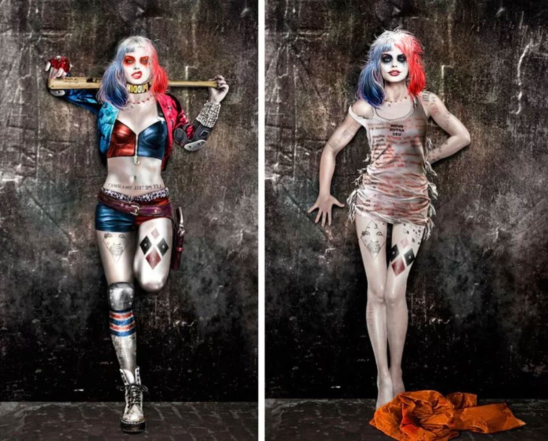 Harley Quinn Kostüm in zwei unterschiedliche Varianten