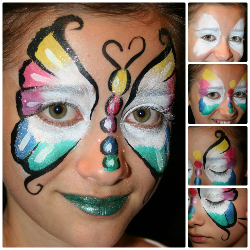 Das passende Fasching Make up für den Schmetterling Kostüm