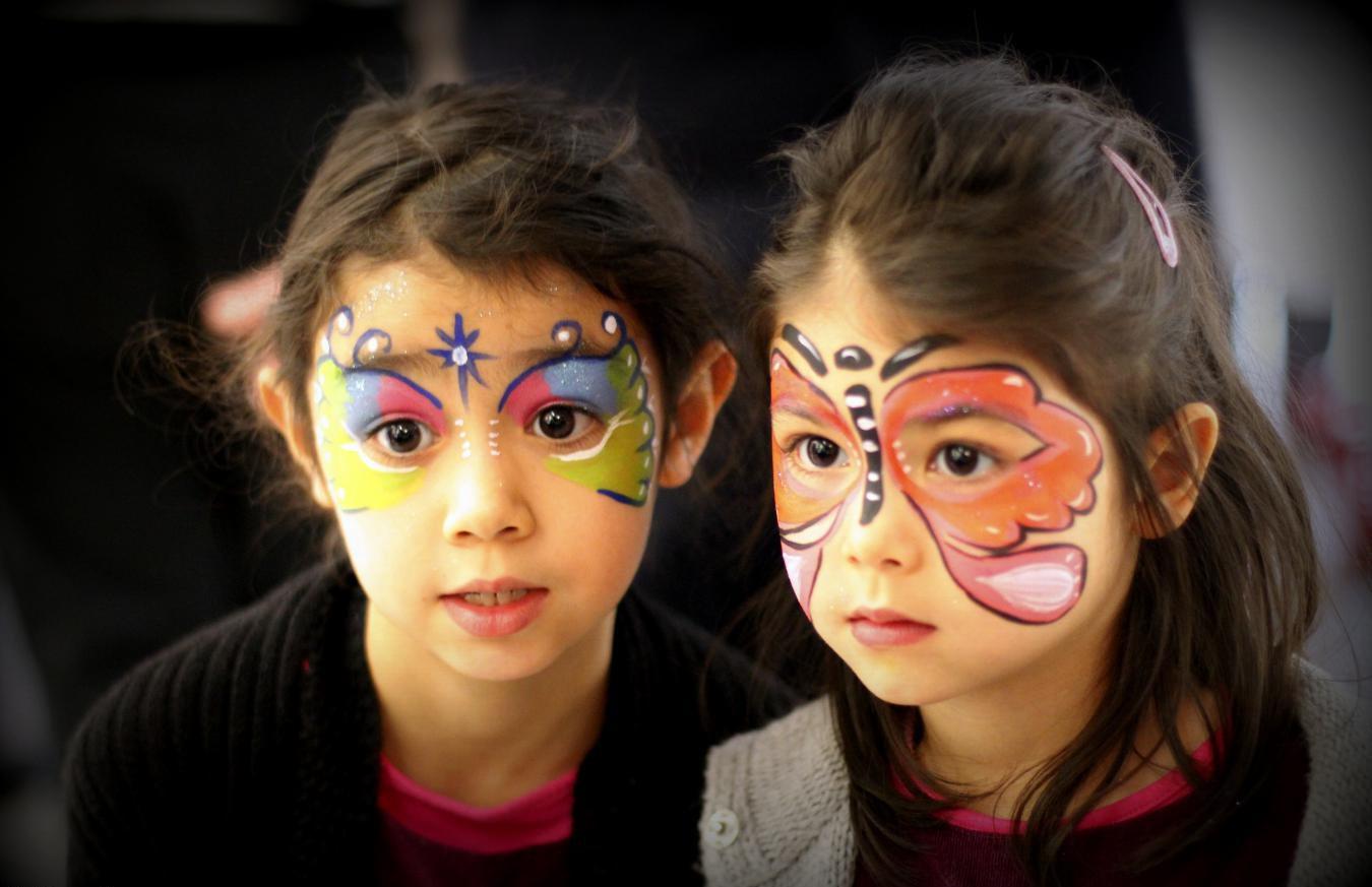Schminktipps für Fasching - Kinderschminken Schmetterling