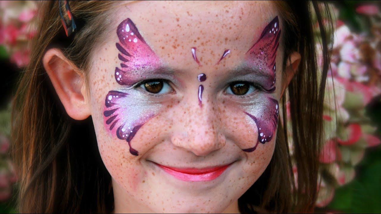 Kinderschminken Schmetterling für Karneval
