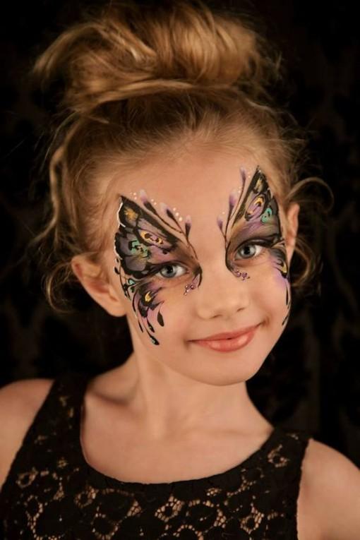 Schmetterling malen - DIY Ideen für Karneval Verkleidung