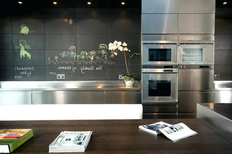 Kreidetafel Küche Ideen als Spritzschutz