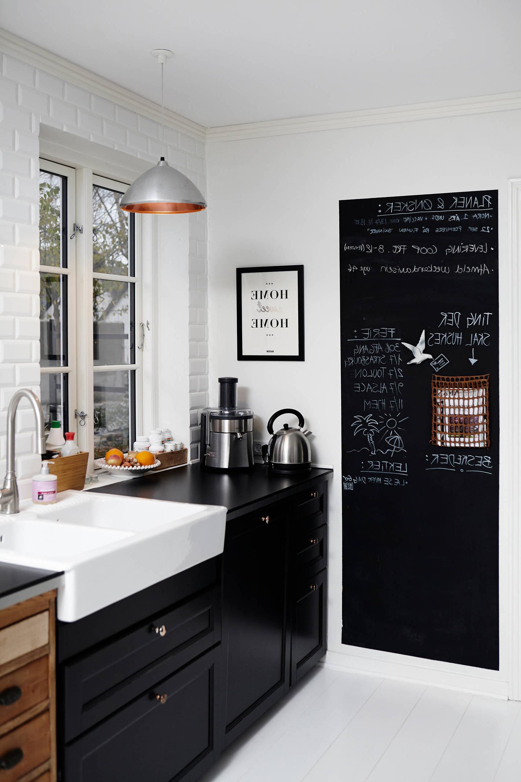 Eine Wand in der Küche als Kreidetafel gestalten