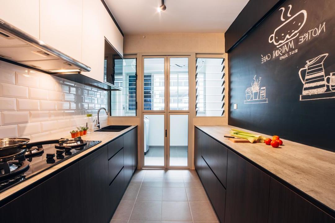 Kreidetafel Küche Küchenwand Ideen