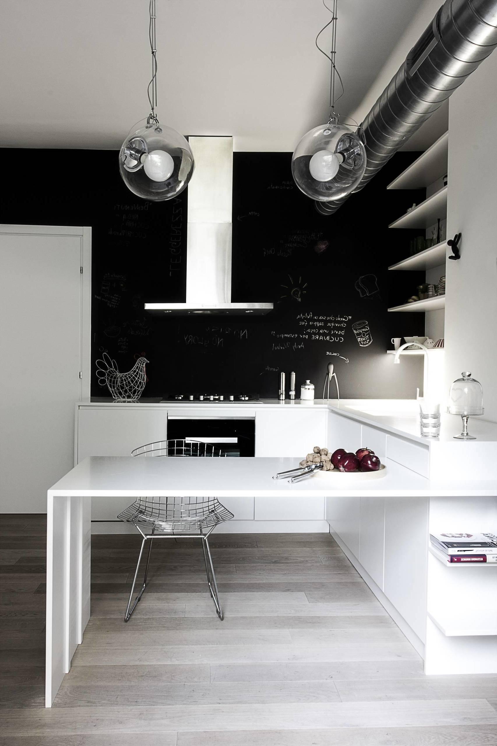 Kreidetafel Küche - modern Interieur