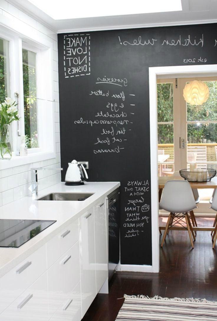 Kreidetafel Küche Küchenwand