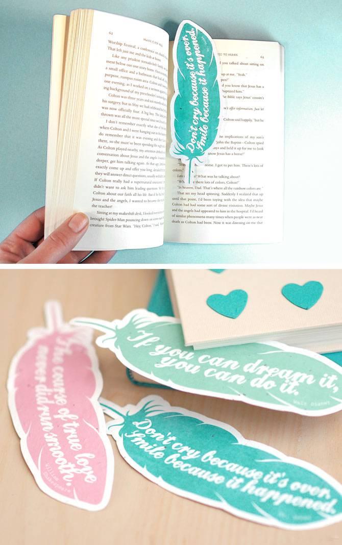 Lesezeichen mit Valentinstag Sprüche selber machen