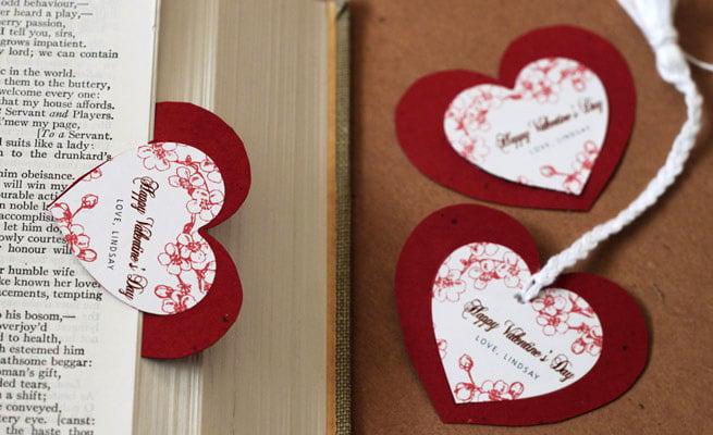 Lesezeichen mit Valentintag Sprüche