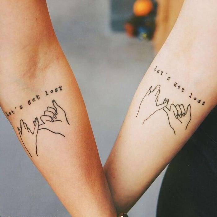 Liebes Tattoo Paar Tattoos mit Sprüche