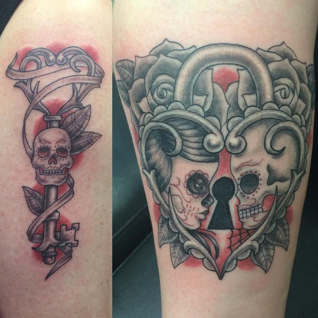 Liebes Tattoo Schlüssel Tattoo Ideen