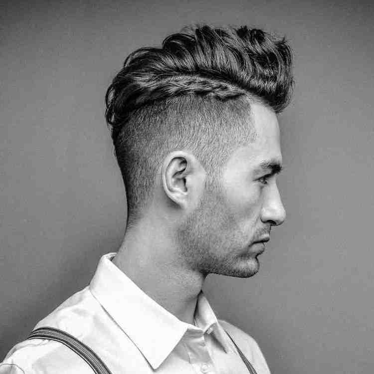 Herren Frisuren trendig mit einem Zopf