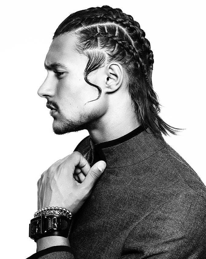 Männer Frisuren mit Haarzopf