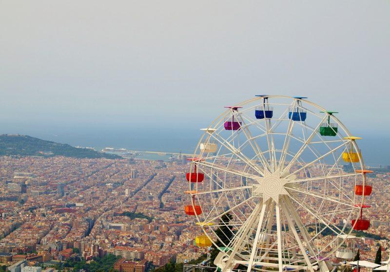 Städtetrip Europa: Aussicht vom oben in Barcelona