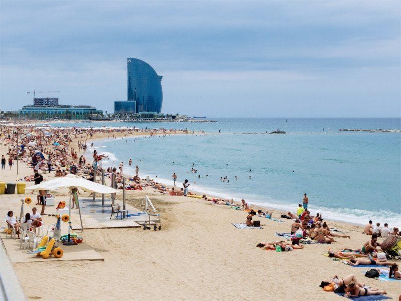 Städtetrip Europa: Strand in Barcelona