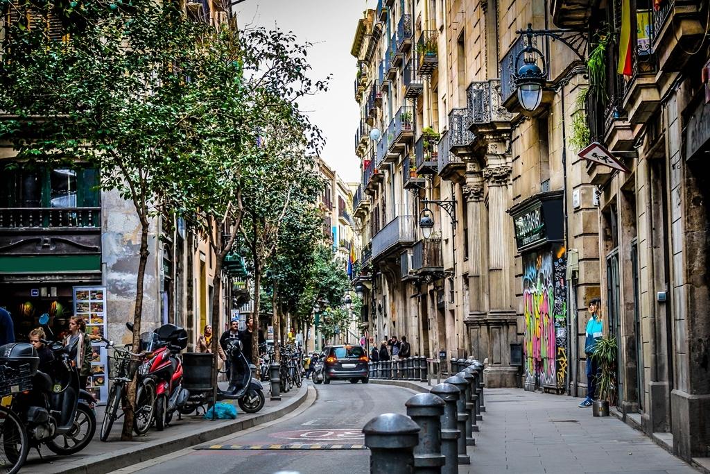 Städtetrip Europa: Straße in Barcelona