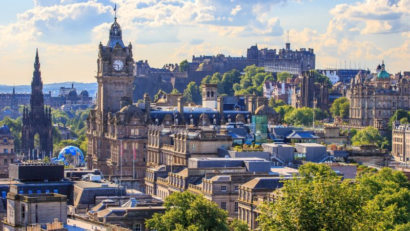 Städtetrip Europa: Aussicht von Edinburgh