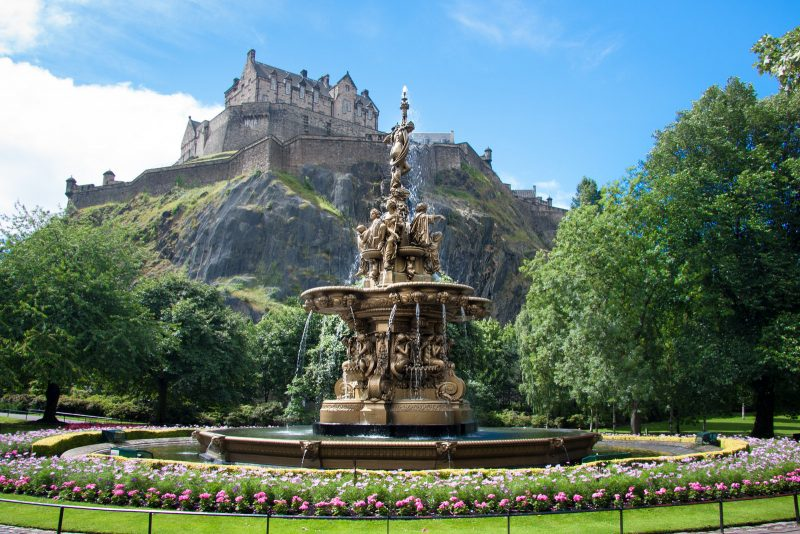 Städtetrip Europa: Ross Brunnen in Edinburgh