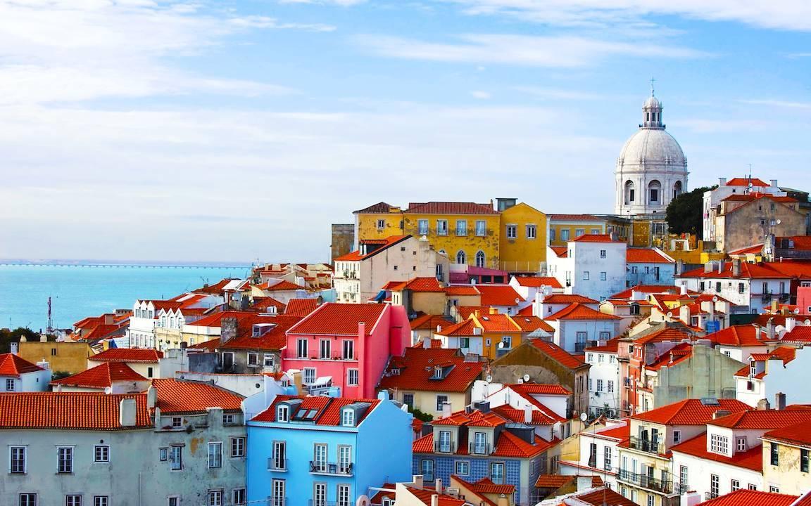 Städtetrip Europa: Blick über Lissabon