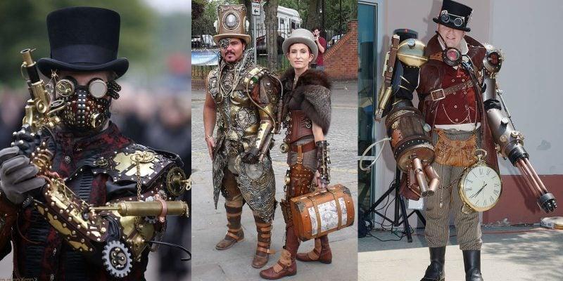 Steampunk Kleidung originelle Karnevalkostüme