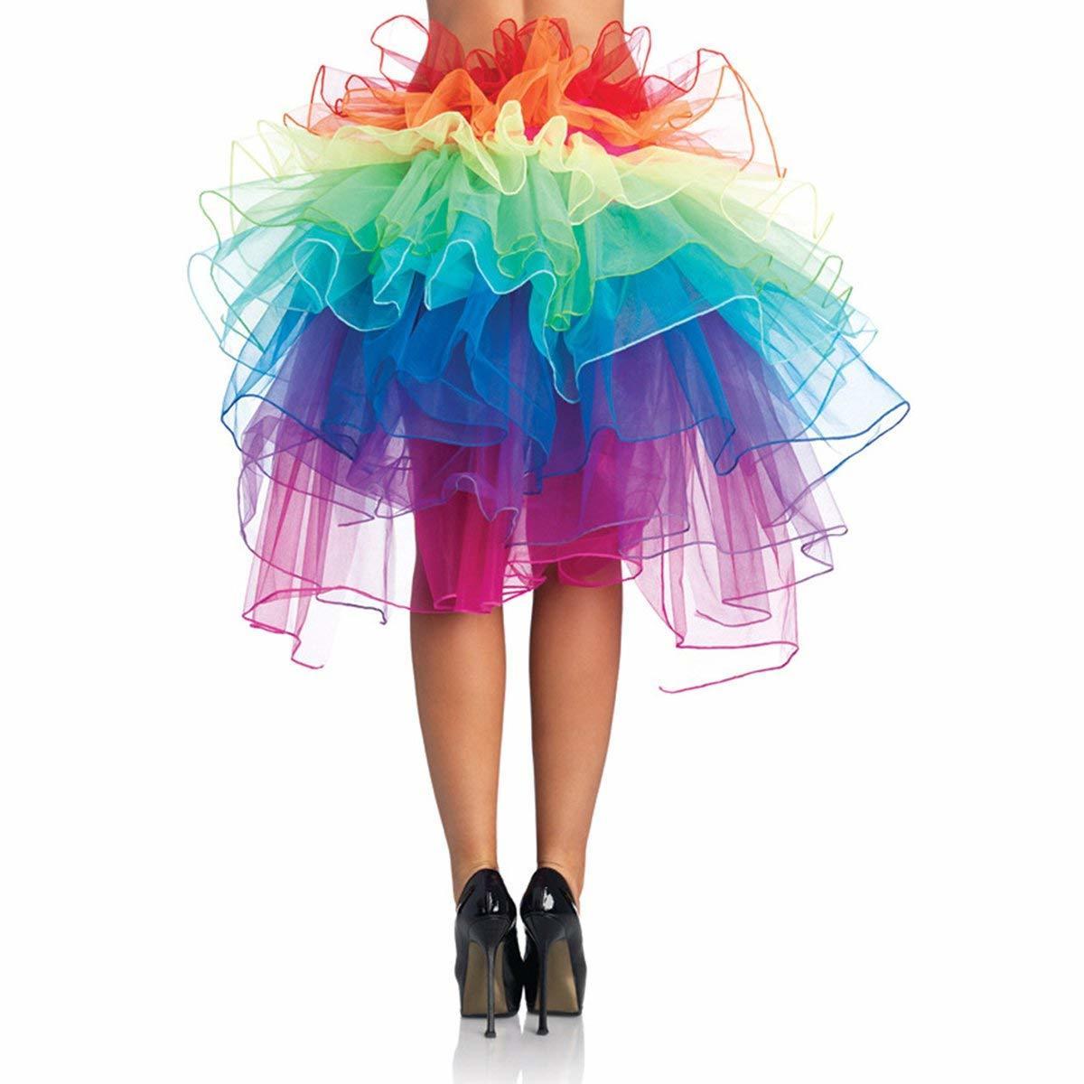Tüllrock selber machen in Regenbogen Farben für Fasching