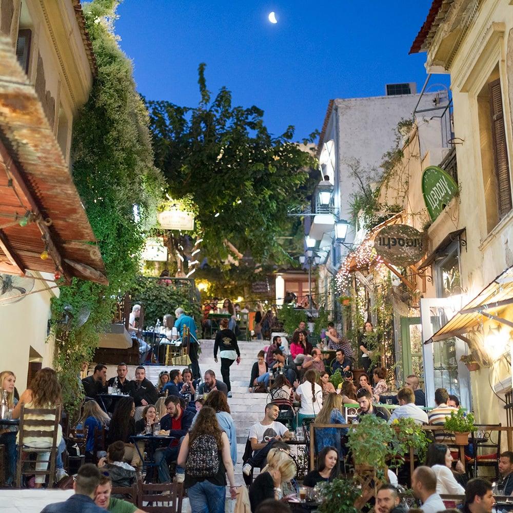 Günstige Urlaubsziele 2019: Nachbarschaft in Athens