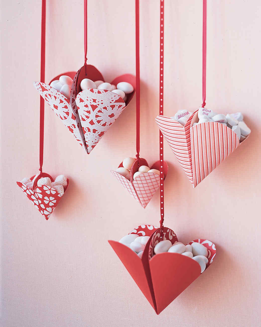 Herzen voll mit Bonbons: toll und süß