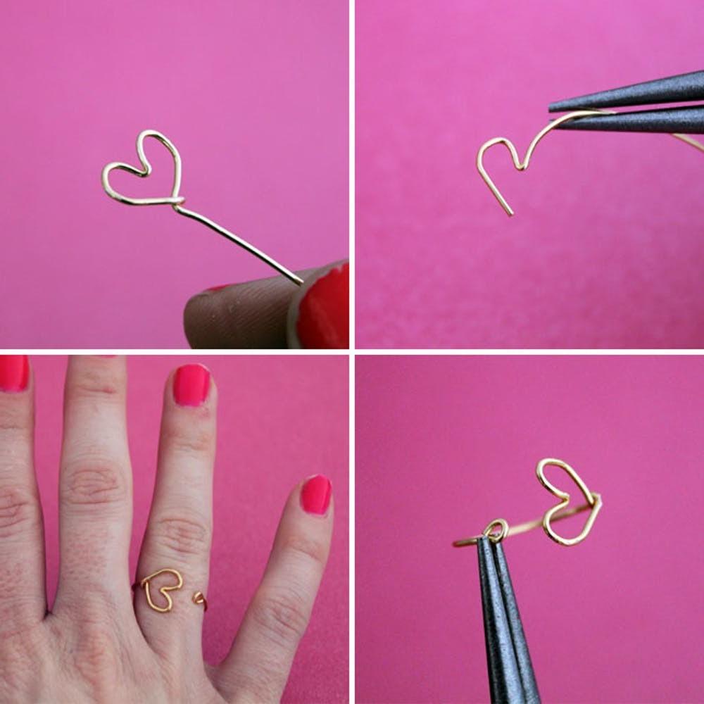 Ring mit Herzen basteln zum Valentinstag ist einen tollen Accessoire für Ihre Freundin