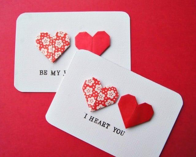 Valentinstag karte basteln und begeistern Sie Ihren Partner