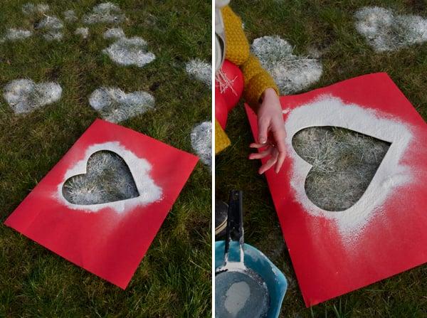 Mehl Herzen: schöne Idee für Valentinstag