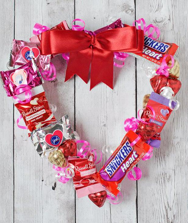 Süßigkeit Herz basteln zum Valentinstag