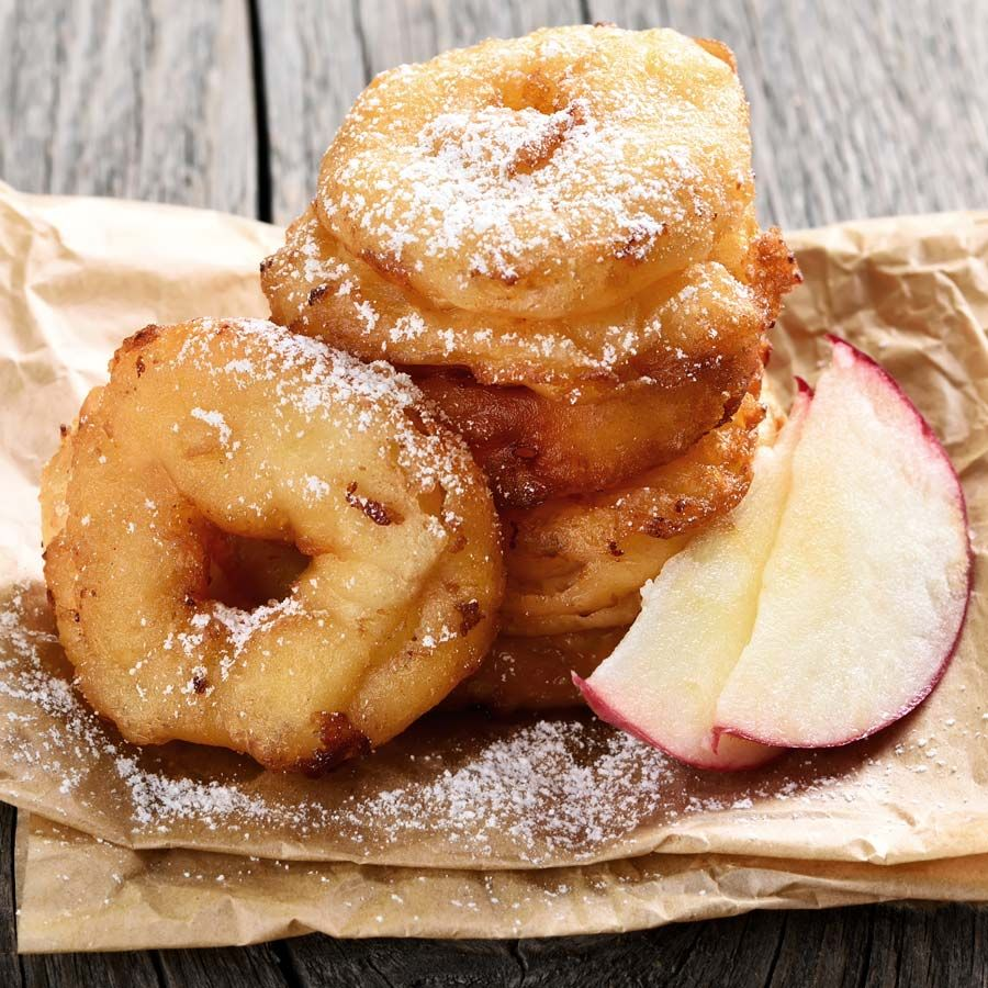 Apfel Donuts backen