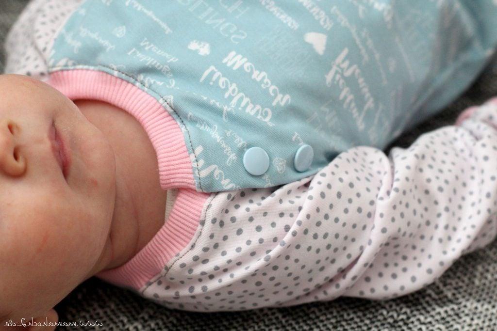 Babykleidung nähen mit Druckknöpfen