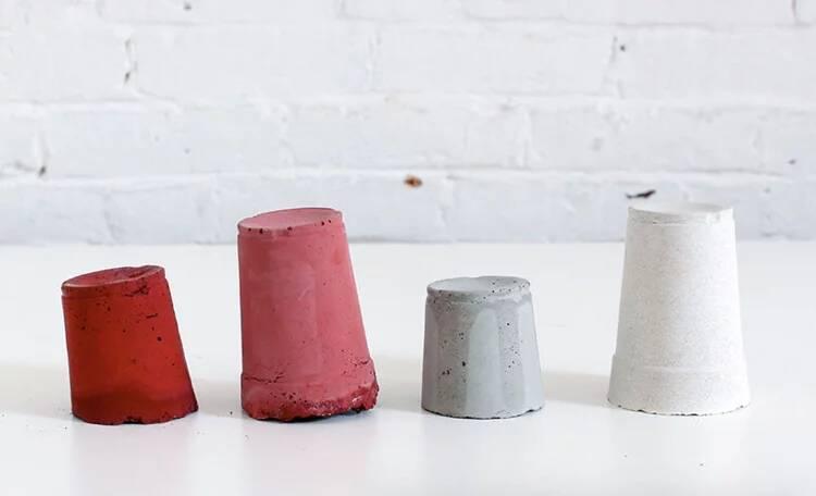 Betonlampe in verschiedener Farbe basteln