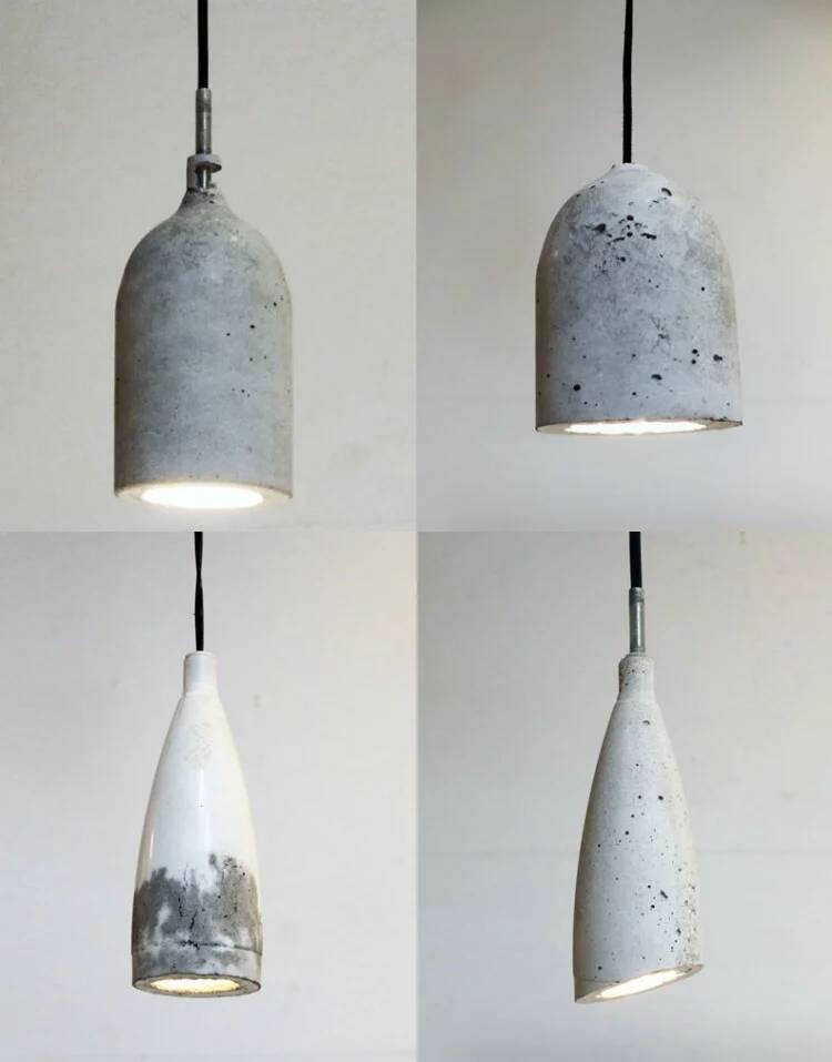 Notwendige Materialien für eine originelle Betonlampe
