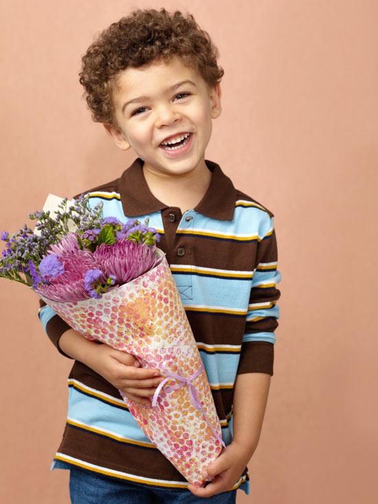 Blumen schneken zum Muttertag