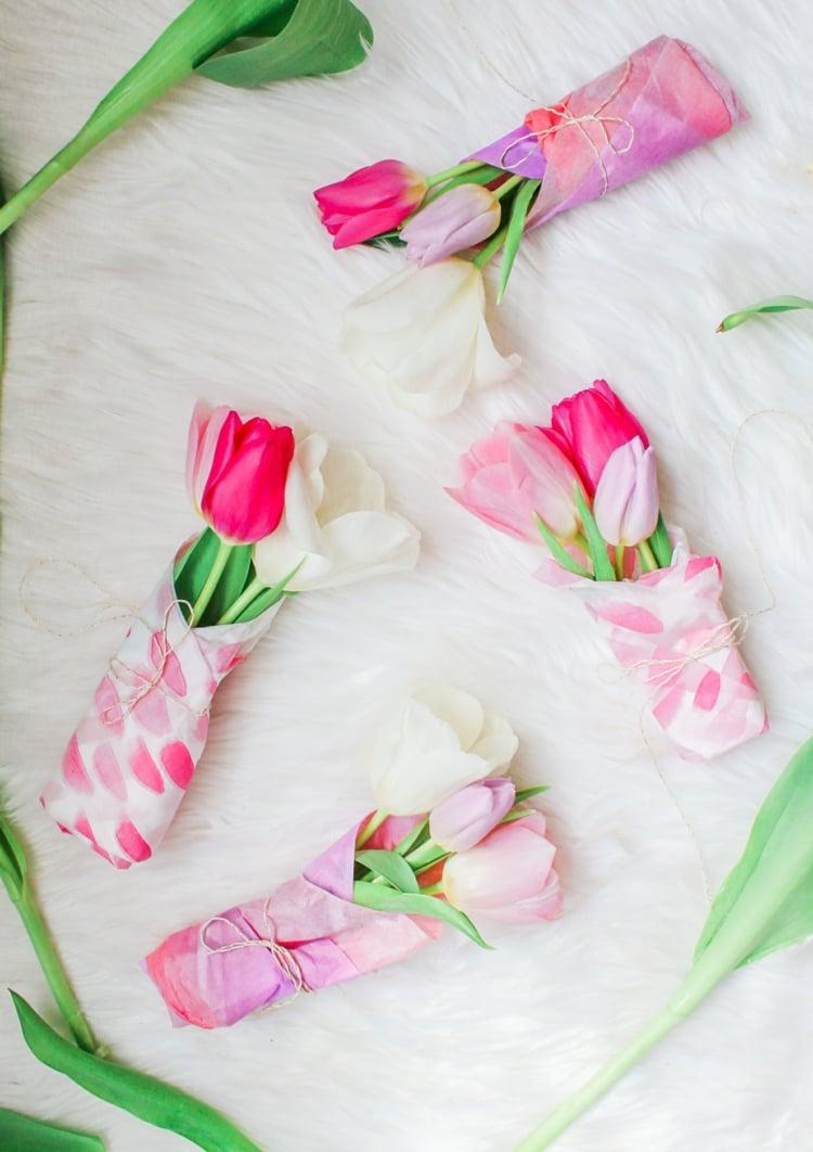 Blumengestecke arrangieren DIY