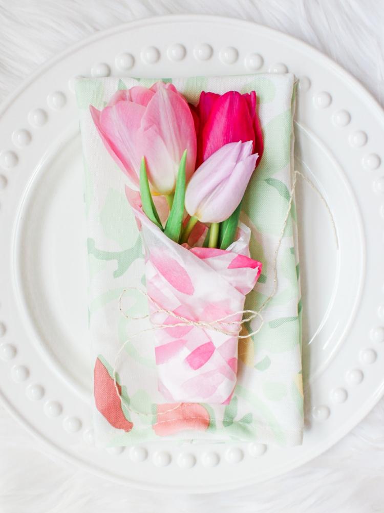 Tischdeko Blumen FRühling