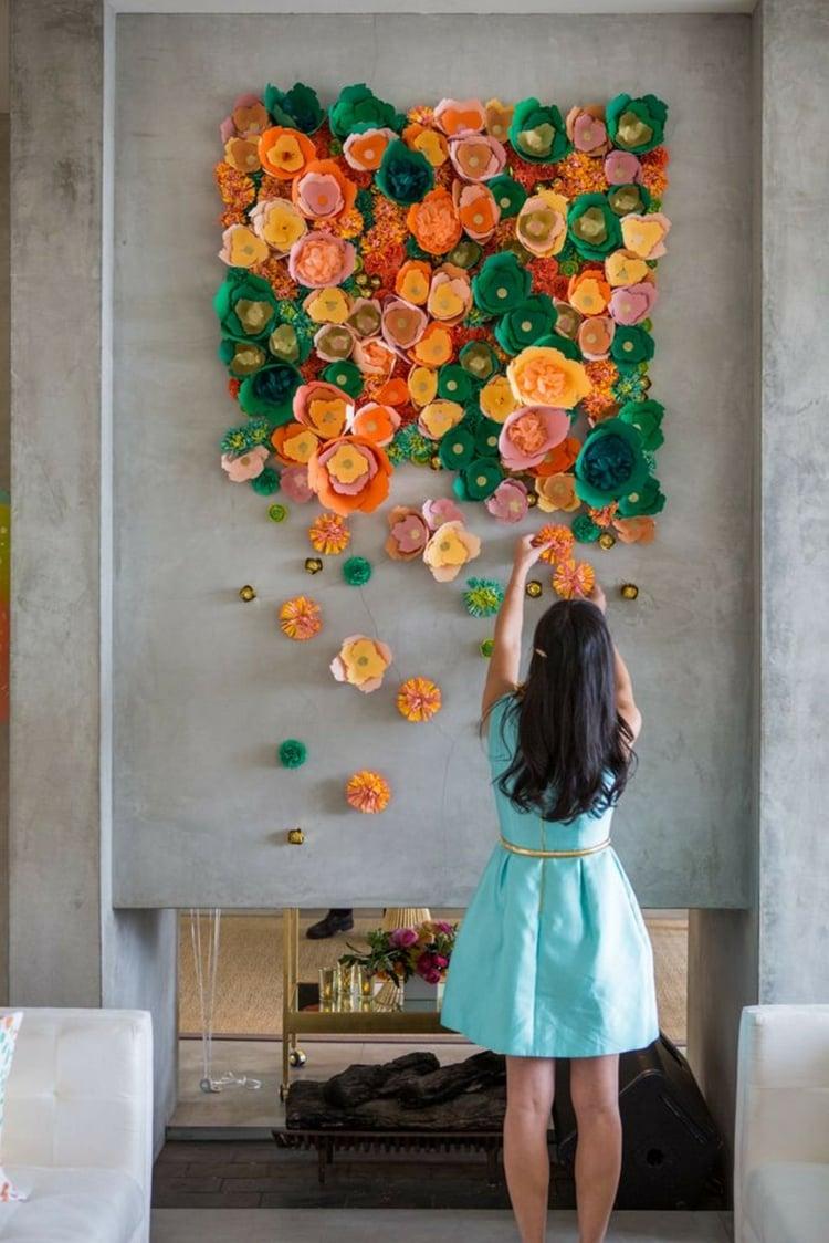 DIY Blumenwand Frühling