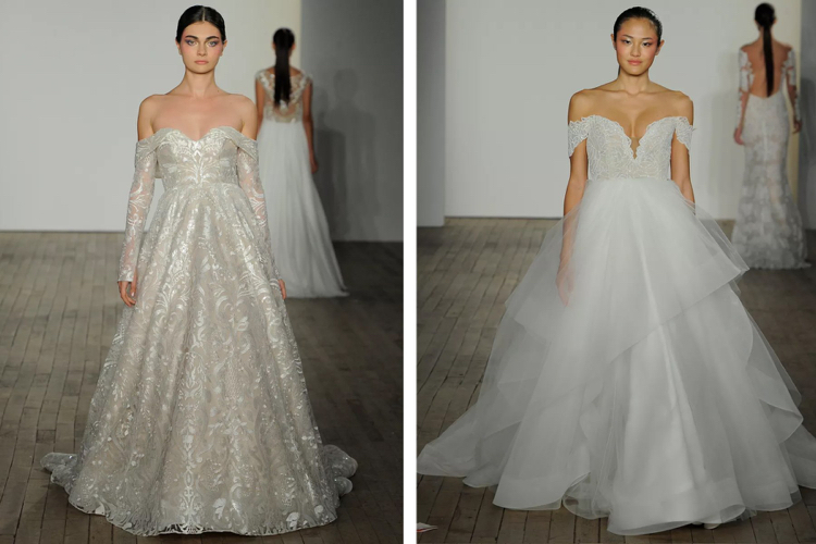 Brautkleider 2019 Carmen Ausschnitt