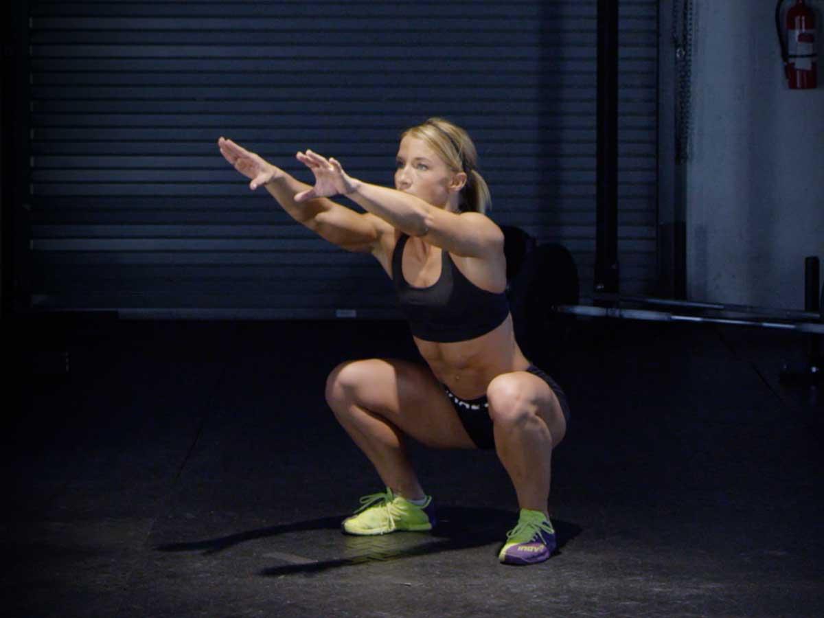 Air Squat machen Übung