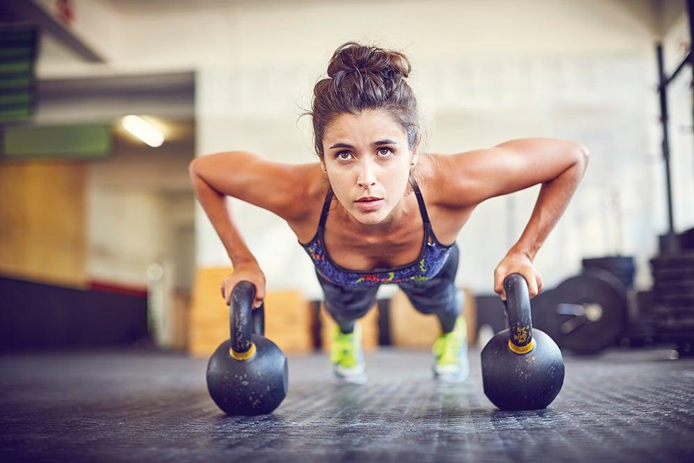 Muskel aufbauen Oberkörper Push ups