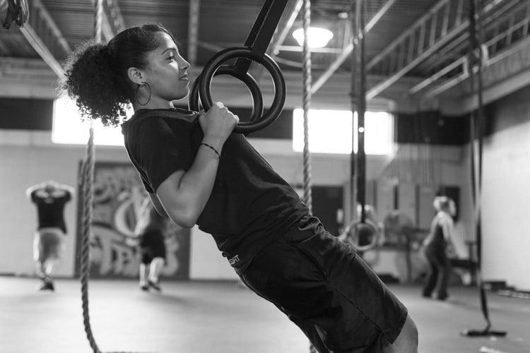 trainieren Ringe Frau