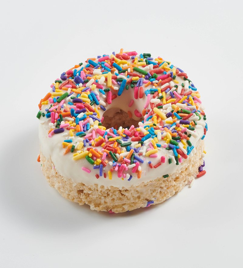Donut Rezept Dekoideen bunte Zuckerstreuseln