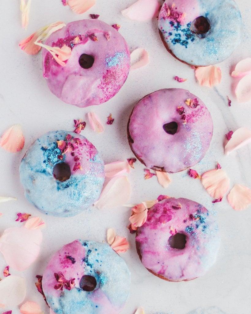 Donuts Zuckerguss Marmor Effekt