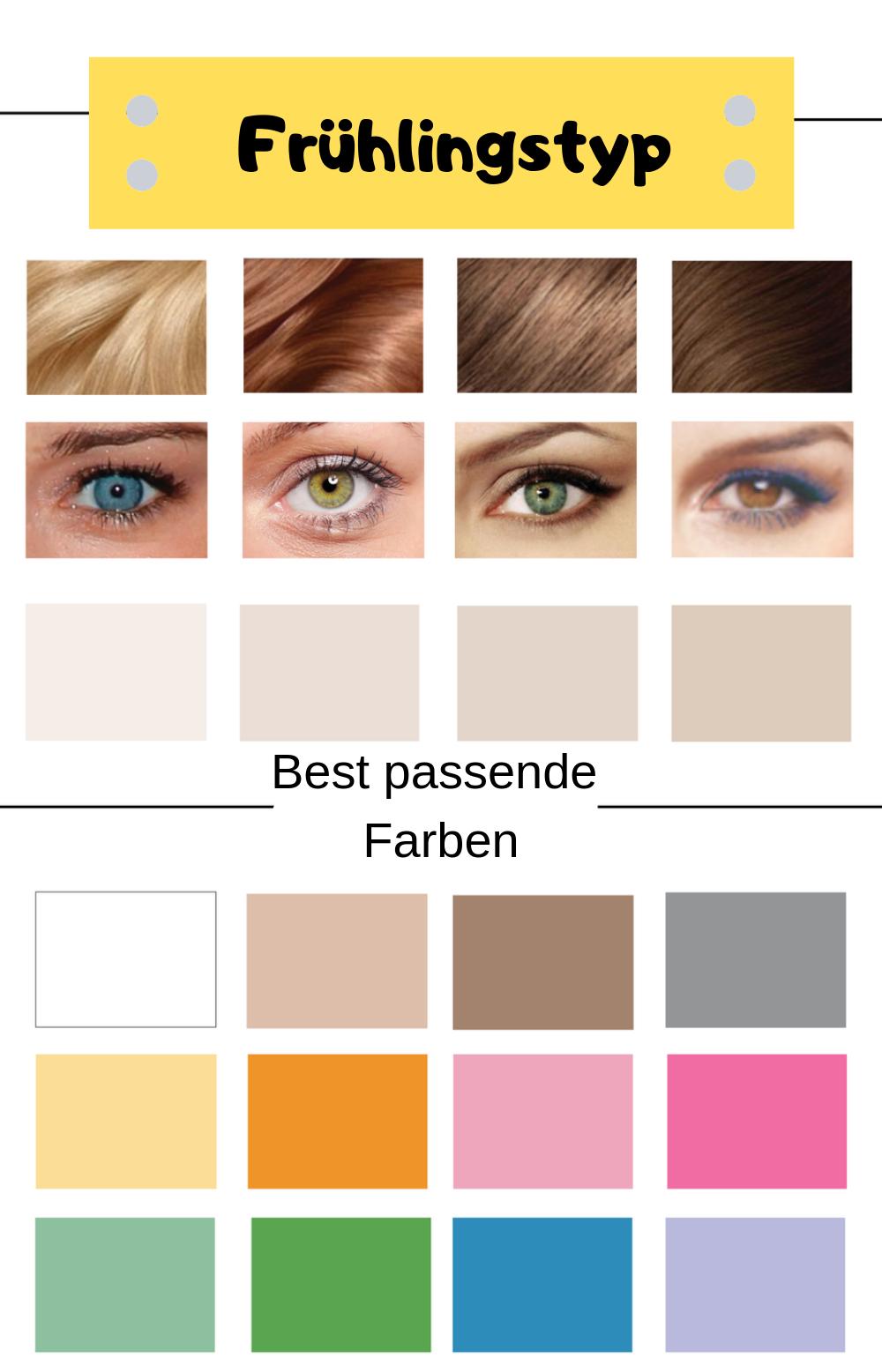 Welcher Farbtyp bin ich: Typische Merkmale für den Frühlingstyp